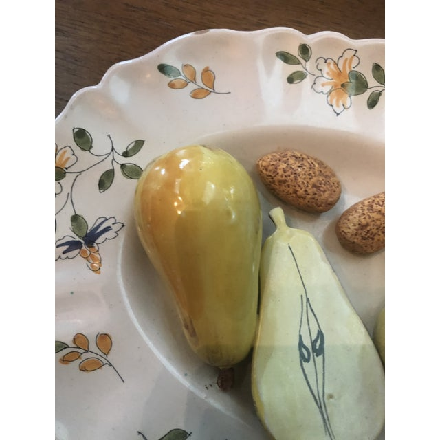 Traditional Vintage Tromp Loeil Majolica Fruit Plate For Sale - Image 3 of 6