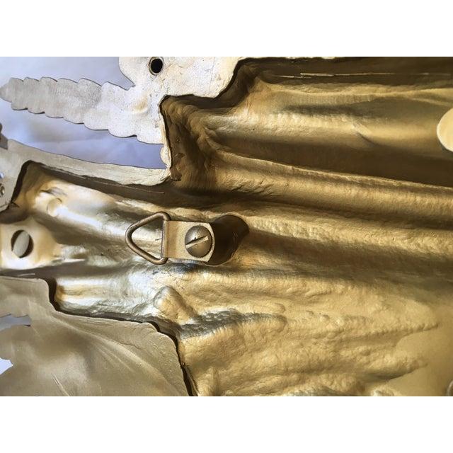 1971 Rococo Gold Flourish Sconces - a Pair - Image 8 of 8