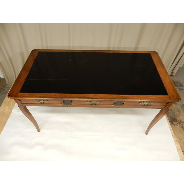 French French Walnut Vintage Partners Desk For Sale - Image 3 of 8