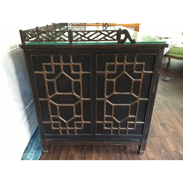 Drexel Heritage Mandalay Asian Chinoiserie Desk - Image 5 of 11