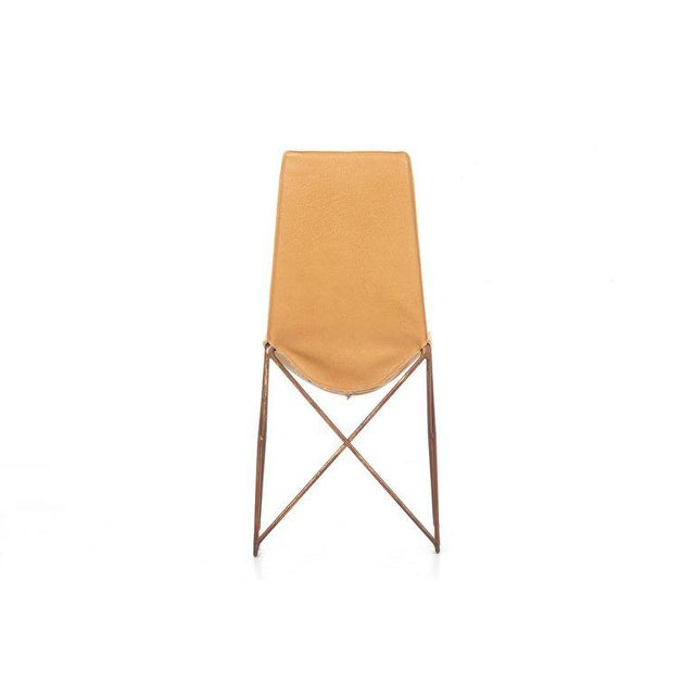 Gold Arturo Pani Sling Chair For Sale - Image 8 of 9
