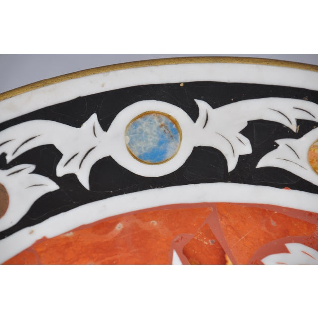 Vintage Pietra Dura Mosaic Side Table - Image 6 of 8