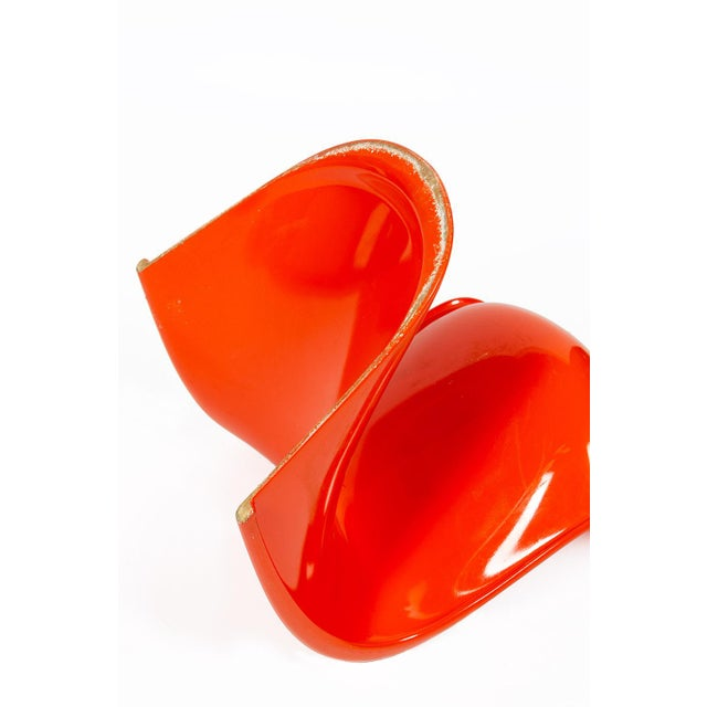 Orange Orange Verner Panton S-Chair For Sale - Image 8 of 12