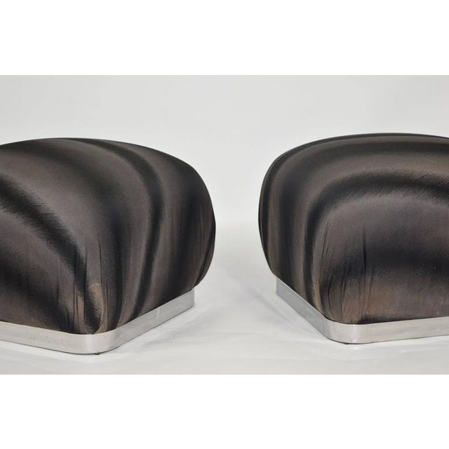 Pair of Souffle Poufs by Weiman - Image 5 of 8