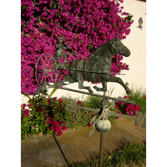 Vintage Horse and Buggy Coper Weathervane For Sale - Image 4 of 13