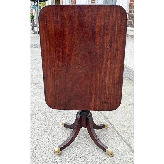 Chinese Late 18th- Early 19th Century Mahogany Tilt Top Table For Sale - Image 3 of 10