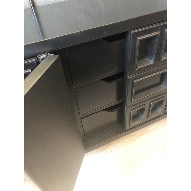 Mid 20th Century Mid-Century Black Nine Drawer Dresser For Sale - Image 5 of 13