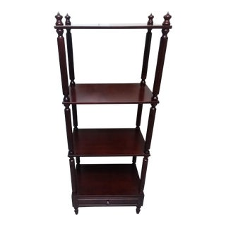 Solid Mahogany Shelving Unit For Sale