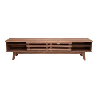 Mid-Century Modern Wooden Media Console For Sale