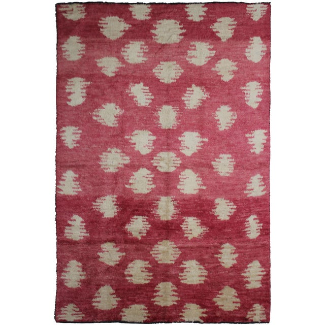 """Hand Knotted Ikat Rug by Aara Rugs Inc. 10'10"""" X 8'2"""" For Sale"""