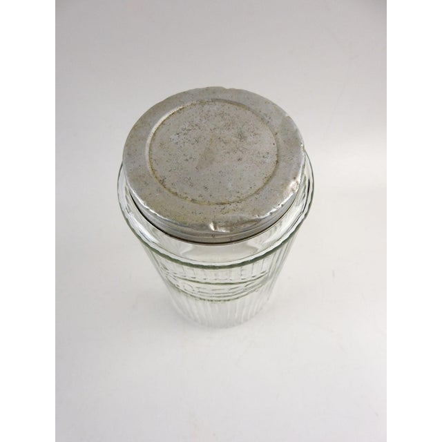 Rustic Ribbed Glass Coffee Canister For Sale - Image 3 of 5