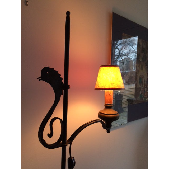 Early 19th Century Wrought Iron and Brass Oil Lamp For Sale - Image 9 of 12