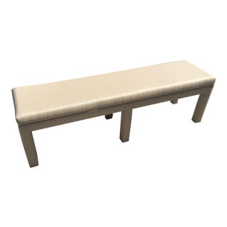 1970s Vintage Milo Baughman Style Upholstered Bench For Sale