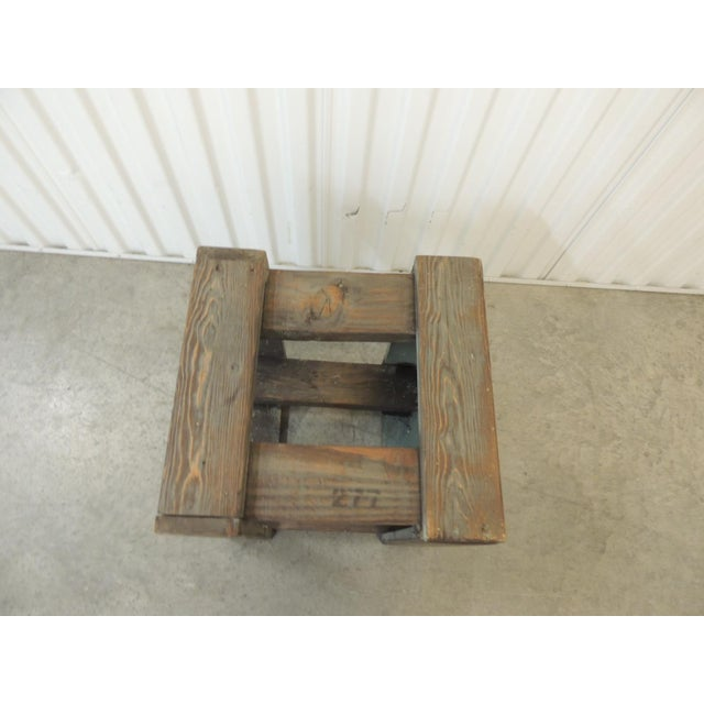 2010s Rustic Primitive Style Artisanal Rectangular Step Stool For Sale - Image 5 of 7