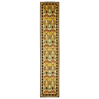 "Arts & Crafts Hand Knotted Runner - 3'0"" X 14'8"" For Sale"