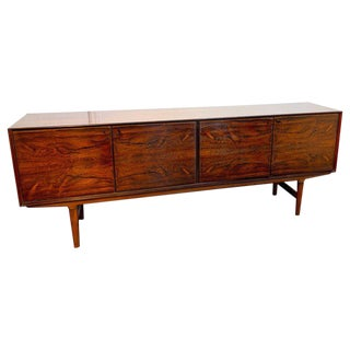 Long Rosewood Credenza by Ib Kofod-Larsen for Faarup Møbelfabrik For Sale