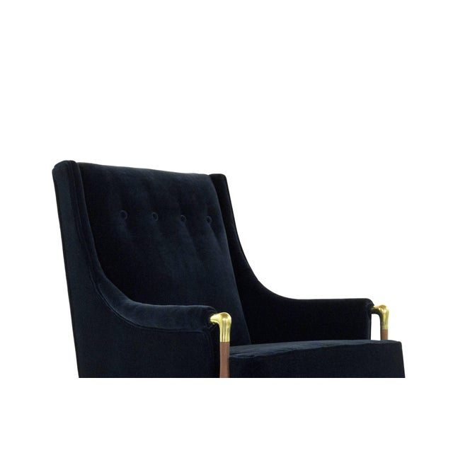 Brass Sculptural Gio Ponti Style Lounge Chair, 1950s For Sale - Image 7 of 12