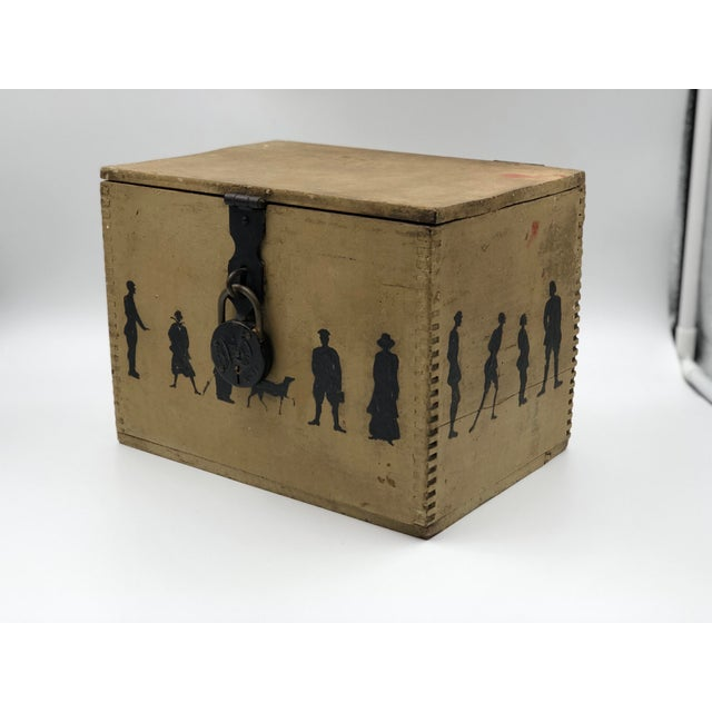 19th Century Silhouette Painted Wooden Box For Sale - Image 13 of 13