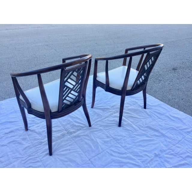 Stylish Chinoiserie curved bentwood Side Chairs- A Pair Lawrence Peabody DIMENSIONS 26ʺW × 18ʺD × 34ʺH STYLES...