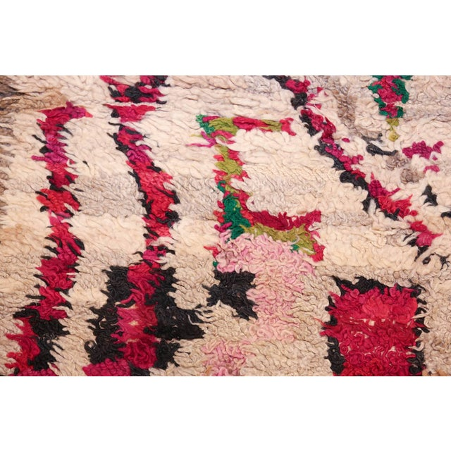 Textile Vintage Moroccan Colorful Wool Rug - 3′5″ × 5′9″ For Sale - Image 7 of 10