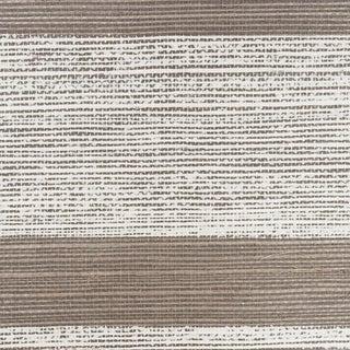 Sample - Schumacher Horizon Sisal Wallpaper in Charcoal For Sale