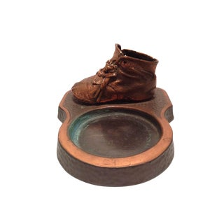 Bronzed Baby Shoe Trinket Dish