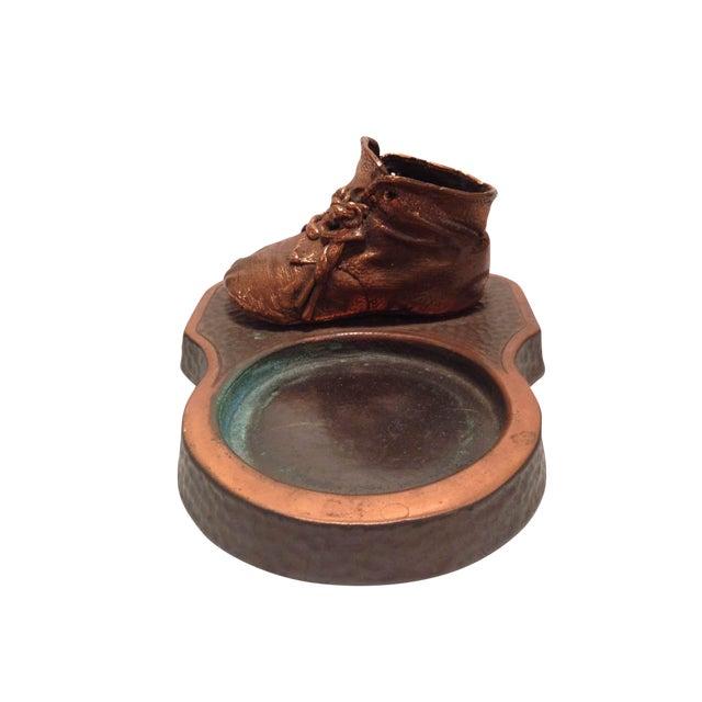 Bronzed Baby Shoe Trinket Dish For Sale