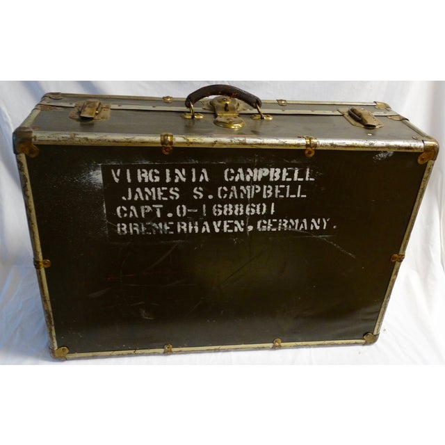 Vintage World War II Soldier's Trunk - Image 2 of 4