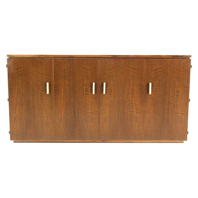Mid 20th Century Vintage Mid Century Tiger Maple Sideboard For Sale - Image 5 of 9