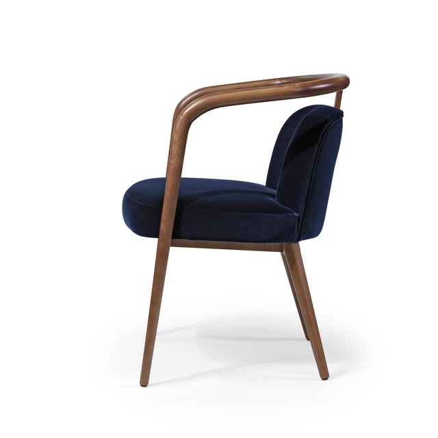 Contemporary Mid Century Style Scandinavian Modern Walnut Chair For Sale In New York - Image 6 of 6