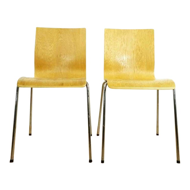 Modern Room & Board Bentwood Side Chairs - a Pair For Sale