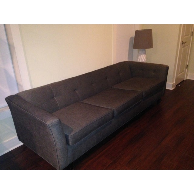 Mid-Century Black Sofa - Image 2 of 5