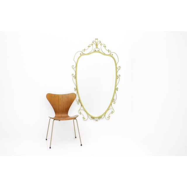 Metal Pier Luigi Colli Mirror, Italy, 1950s For Sale - Image 7 of 7