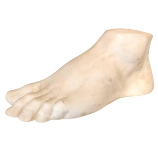1940s Vintage French Patinated Plaster Academic Foot For Sale