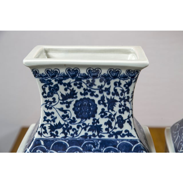 Blue & White Chinese Ginger Vases - A Pair - Image 5 of 7