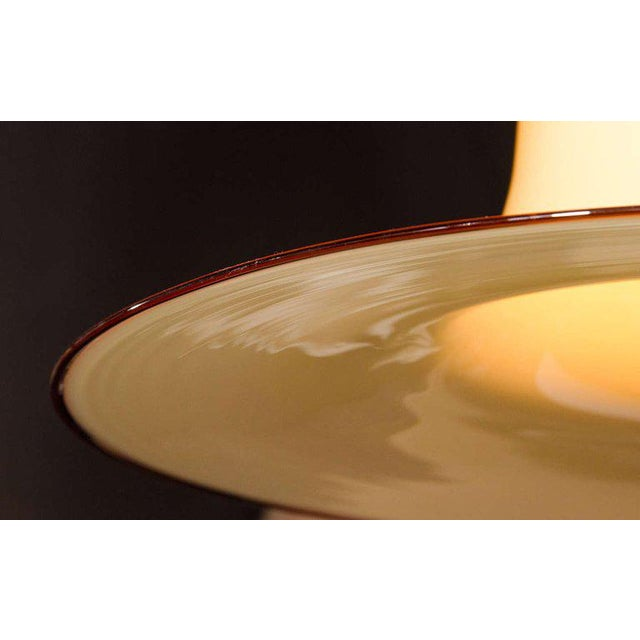 Seguso Large Murano Chandelier With Elongated Bell Form, 1960's For Sale In Miami - Image 6 of 10