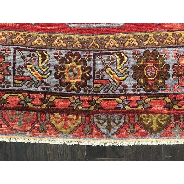 """Vintage Turkish Oushak Rug - 5' X 11'9"""" - Image 3 of 9"""