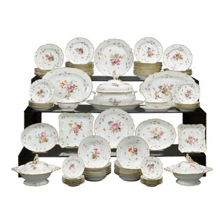 Meissen Porcelain Dinner Service, 92 Pieces For Sale
