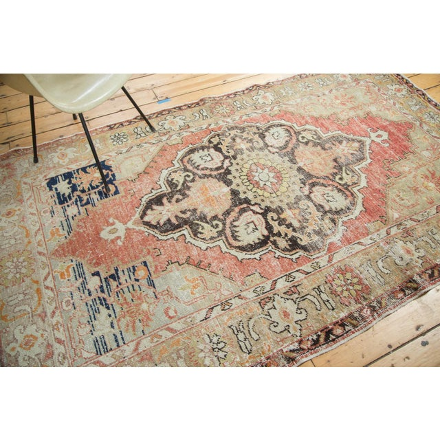 Vintage Oushak Carpet - 4′10″ × 8′2″ For Sale - Image 9 of 10