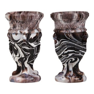 1890s English Northumberland Glass Vases - a Pair For Sale