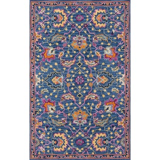 Ibiza Blue Hand Tufted Area Rug 5' X 8' For Sale