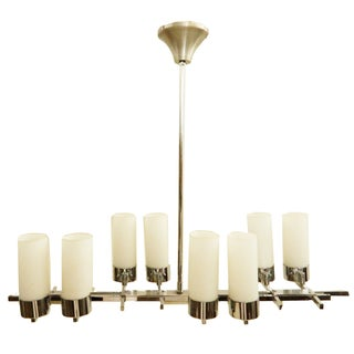 French Vintage 8-Light Jacques Adnet Chandelier