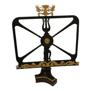 Mid 19th Century Antique Bronze Doré Neoclassical Inspired Bookstand For Sale