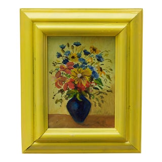 Petite Vintage Still Life Painting For Sale