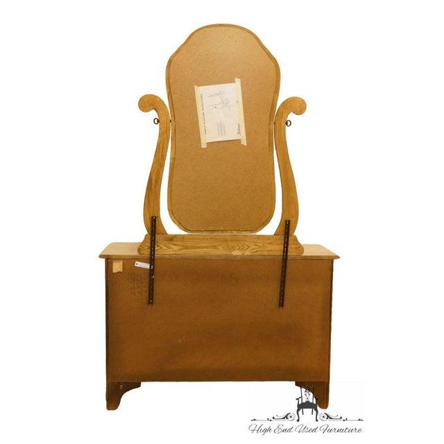 Pulaski Furniture Keepsakes Collection Oak Dresser & Wishbone Mirror For Sale - Image 10 of 13