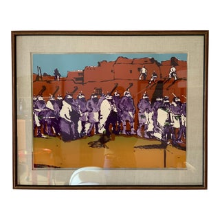 "1970s Vintage Fritz Scholder ""Yei Dancers"" Lithograph Print For Sale"