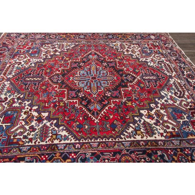 """Apadana - Vintage Persian Heriz Rug, 8' x 8'9"""" - Image 4 of 7"""