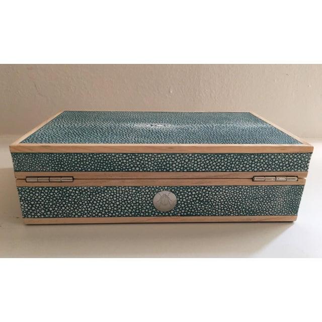 Teal Shagreen Treasure Box - Image 3 of 6