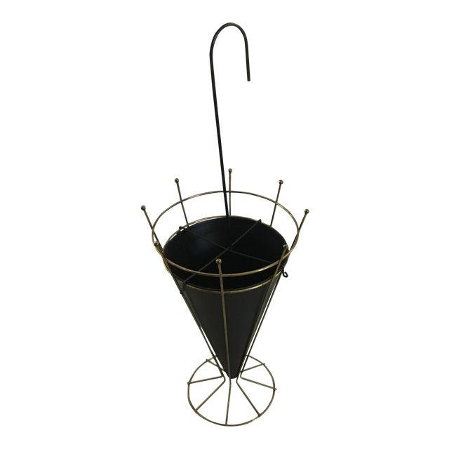 Vintage Metal Umbrella Stand For Sale