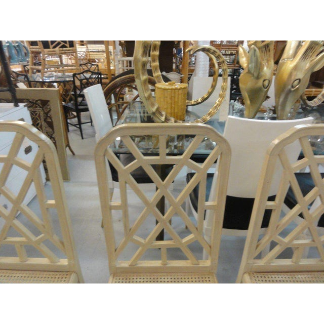 Palm Beach Regency Fretwork Chairs - Set of 6 - Image 7 of 11